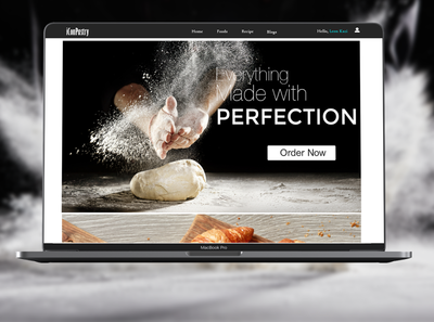 Pastry Shop Site macbook food network pastry cutter graphic design branding packaging advertising web banner design website design pastry