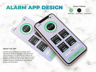 Alarm UI Design apple app design clean ui photoshop advertising graphic design uiux alarm app alarm