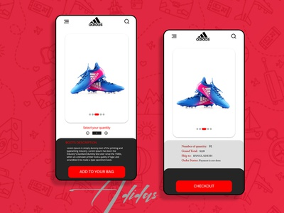 Adidas apps checkout page advertising ux graphic design photoshop apps ui social media banner boots sneaker fashion apps design adidas