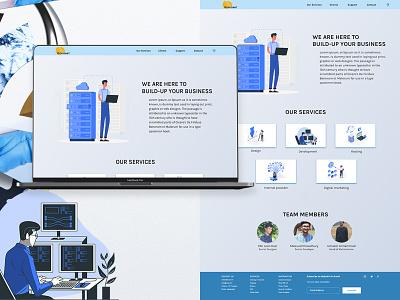 IT Farm website ios android hosting digital marketing design adobe xd apple design apps design illustration art web design