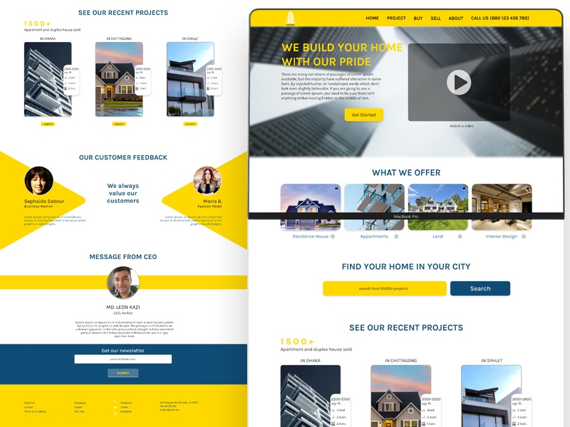 Real Estate Company UI Design designinspiration business graphic design ui inspiration app branding creative inspiration dribbble behance ux design ui  ux web design real estate