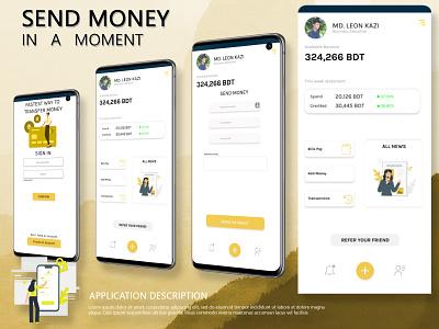 Money Transaction App photoshop clean ui ui ios app design android app design app design money transfer