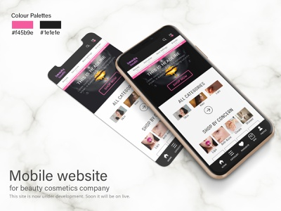 Beauty cosmetics web UI user interface user experience adobe xd beauty product clean ui app design ecommerce cosmetics