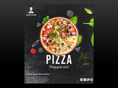 Pizza Banner Design logo design pizza social media design banner design photoshop graphic design advertising branding product design