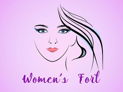 Womens Fort shop logo cosmetics vector photoshop illustration design logo