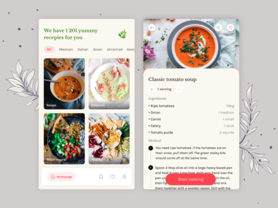 Vegan cookbook app