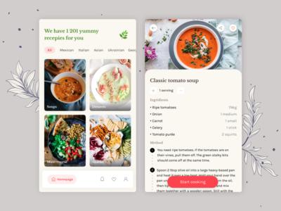Vegan cookbook app