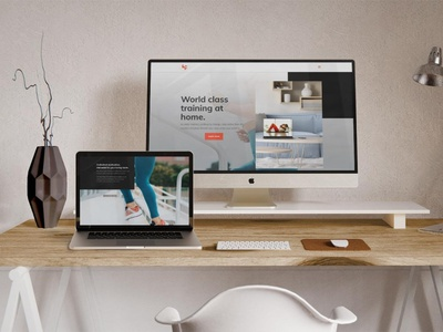 Fitness Streaming Platform responsive design web development web design