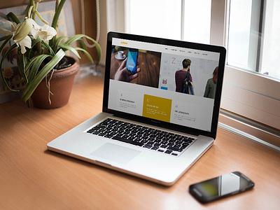 adore - homepage concept responsive interface digital design web design