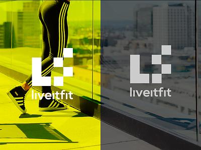 LiveItFit Branding Concept branding logo design
