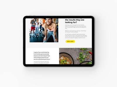 Nutrition platform website project branding concepts web design