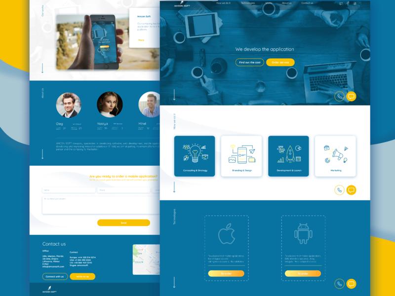 lending for IT companies landing page design ux uxui ui