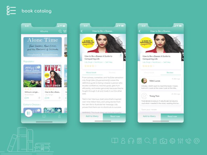 Bookworm design user interface ui uxui