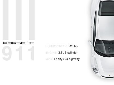 Porsche911 car simple clean graphic design website web cars