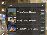 Castle Tour App - Bookmarks