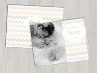 Hello, Baby! - newborn announcement cards, etc.