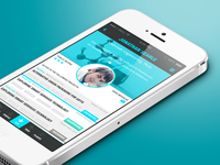 Profile view for professional match-making app
