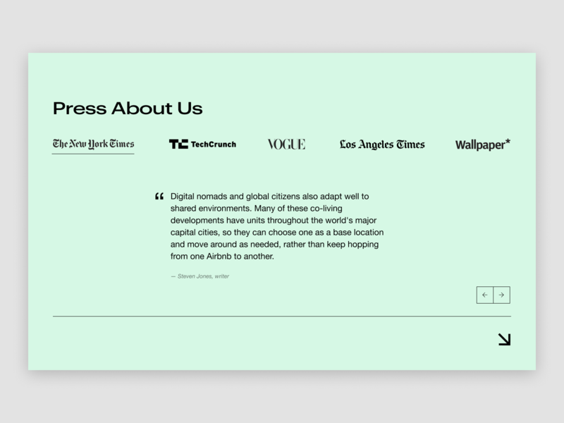 Colivers - Press About Us featured in press page concept uiux typography website creative minimal web ux ui design
