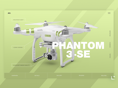 Drone green gradient clean creative minimal website ux web ui design
