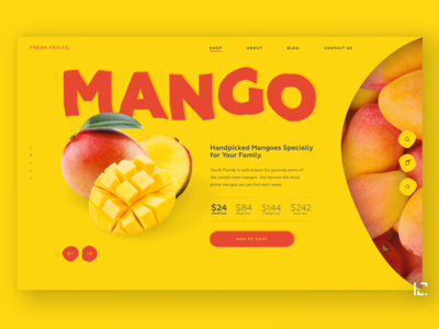 Fruit shop UI concept product page webdesign food uiux clean creative website minimal ux web ui design