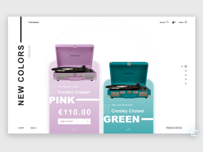 Vinyl Record Player concept fashion gradient uiux clean 2019 typography website creative minimal web ux ui design