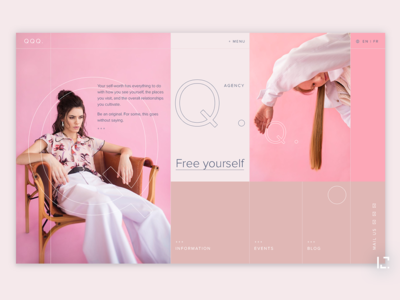QQQ. web design webdesign concept fashion uiux clean 2019 typography website creative minimal web ux ui design