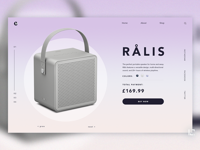 Rails Speaker gradient ecommerce webdesign concept clean uiux 2019 typography website creative minimal web ux ui design