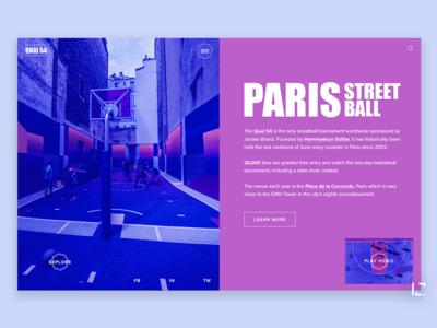 Sreet Ball sport webdesign concept uiux 2019 typography website creative minimal web ui ux design