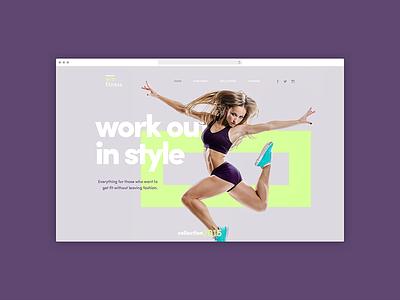 EcoFitness proposal website home landing page fitness type design ui site website proposal