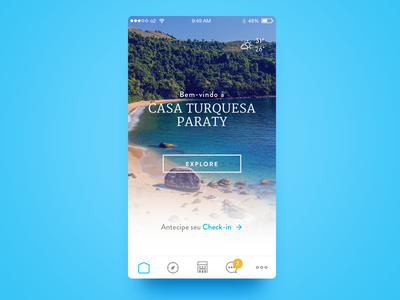 Casa Turquesa Paraty ios ux design visual mobile app