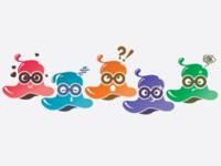 Cute alien stikers