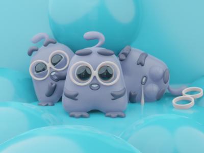 3D cute creature