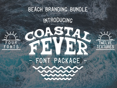 Coastal Fever - Font Package + Textures!🏝