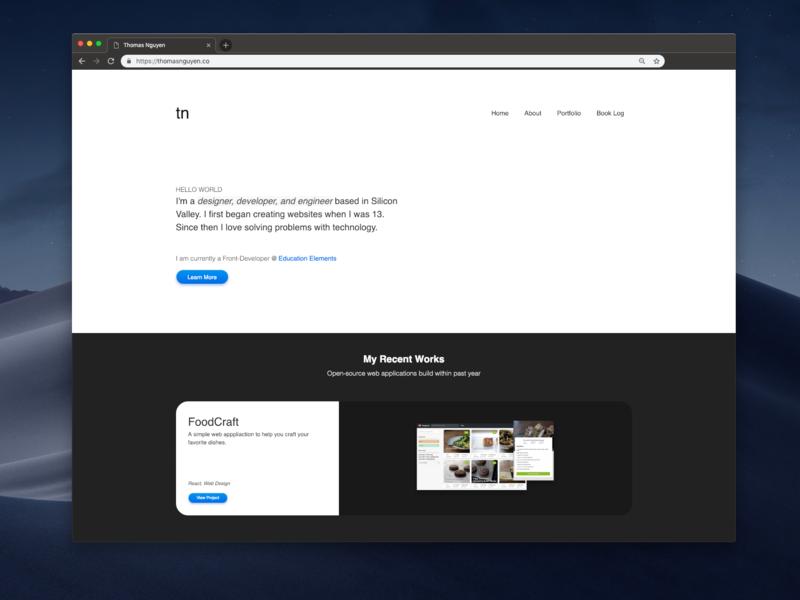 Portfolio Website portfolio debut shot