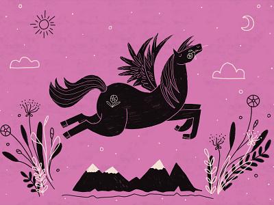 Pegasus pegasus horse illustration digital painting illustration