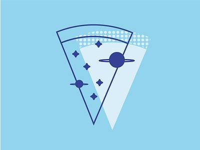Cosmo Pizza planet stars illustration universe cosmos pizza