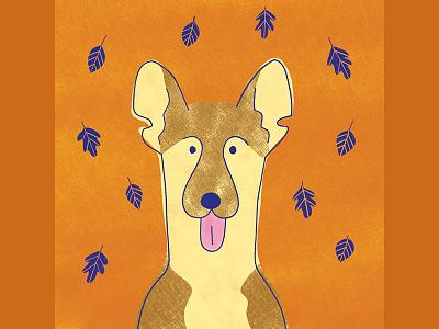 Dog calendar dog illustration dog design illustration