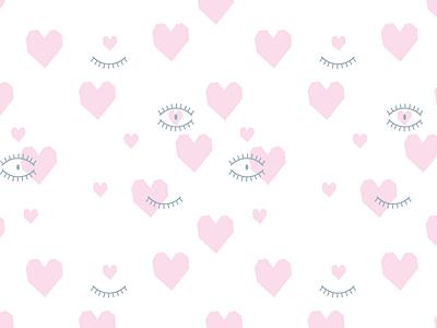 Hearts heart pattern eye vector design illustration