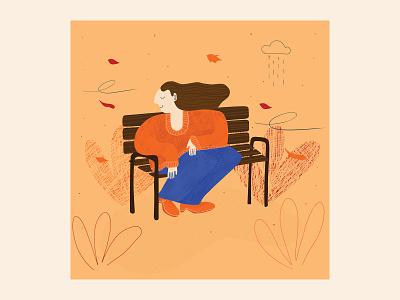 Fall sweater autumn leaves leaves autumn fall park illustration