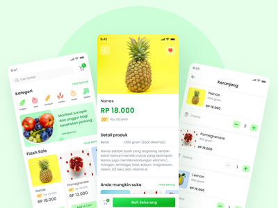 Fruits and Vegetables App design exploration ui design dailyui ux ui