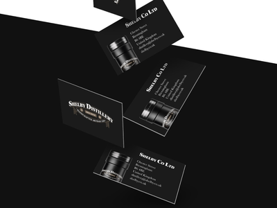 Business cards for the Shelby Distillery mockup logotype logomark logo design corporate design branding graphic design gin print logo brand identity business cards