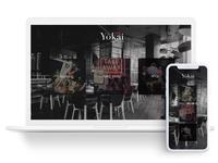 Responsive menu UI for Yokai, a Japanese restaurant