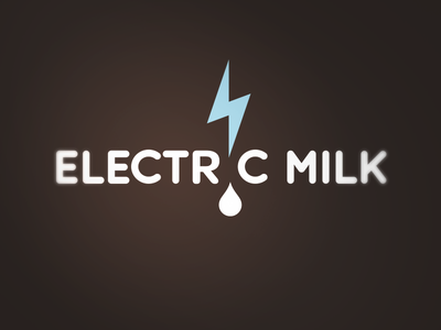 Electric Milk milk electric entertainment wordmark logotype logo mark brand identity