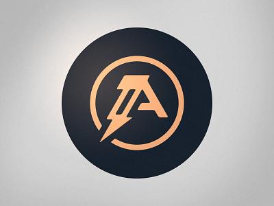 Record Label Mark a monogram entertainment roundel badge graphics branding logo