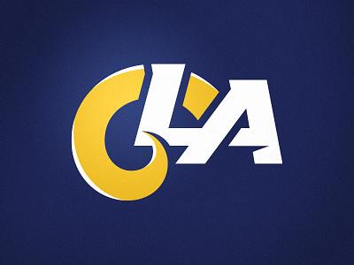 LA Rams ALT Logo monogram la rams nfl football sports branding sports logo branding logo