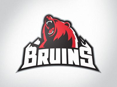 Missoula Bruins NA3HL Primary Logo mountains bear bruins hockey sports branding sports logo branding logo