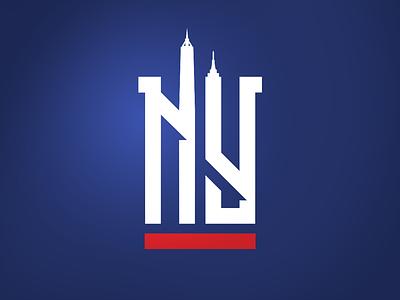 NY Giants Concept branding football nfl giants new york ny sports branding sports logo logo