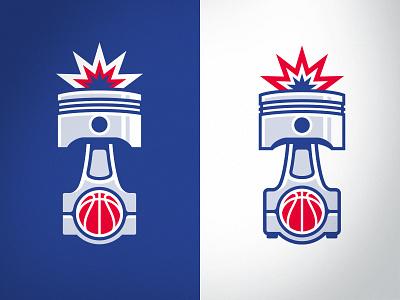 Detroit Pistons Fun sports basketball identity brand logo mark branding sportslogo logo pistons detroit nba