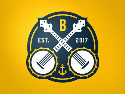 Biloxi Bluegrass Alt Mark bluegrass biloxi sports logo sports monogram b banjo branding brand logo sphl hockey