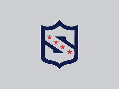 NFL Superpower Workshop Logo typography monogram logo mark sports logos badge superhero shield identity brand workshop design los angeles nfl sports logo